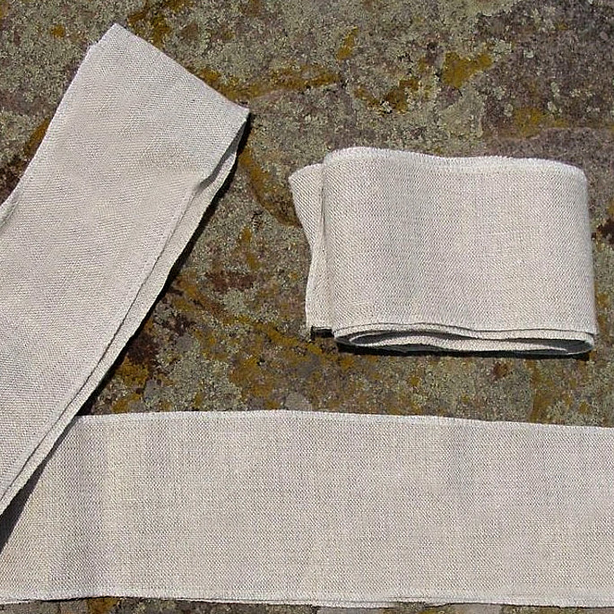 Wool and Linen Leg Wraps - Various Colors