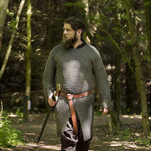 Long Sleeve Chainmail Shirt - Mild Steel