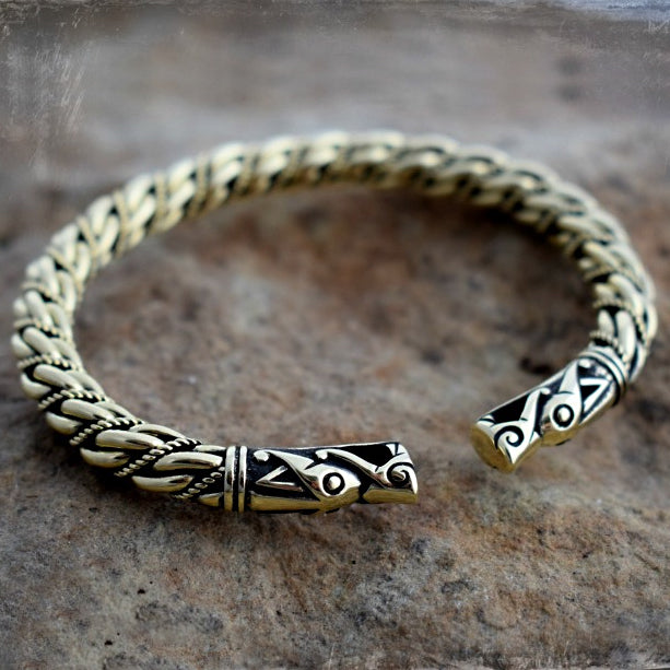 Medium Twist Gotland Bracelet - Bronze