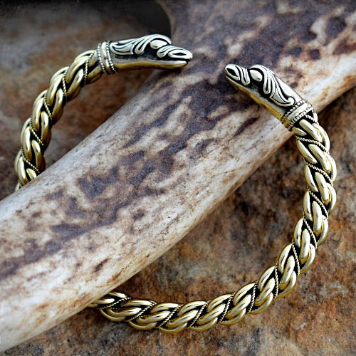 Medium Twist Raven Bracelet - Bronze