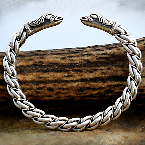 Medium Twist Raven Bracelet - Sterling Silver
