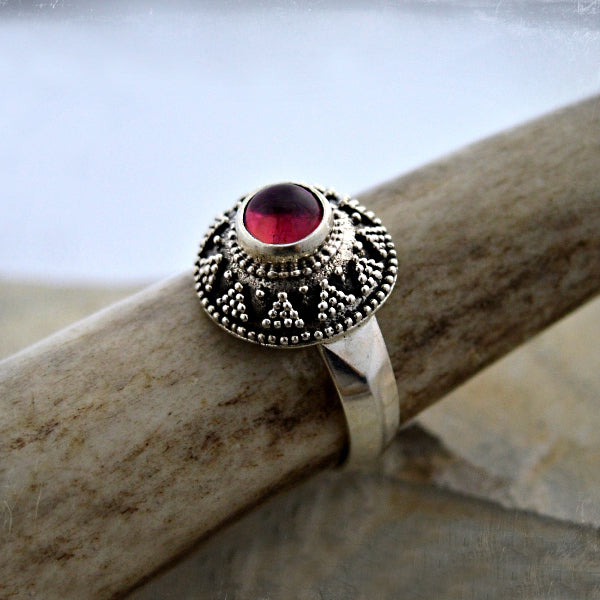 Moravian Replica Ring - Sterling Silver