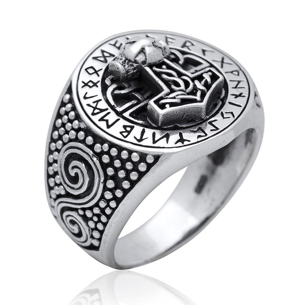 mjolnir and runes ring