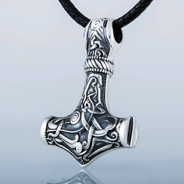 Solid Back Mjolnir - Sterling Silver or Gold