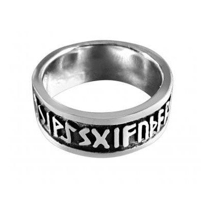 Norse Rune Ring - Sterling Silver