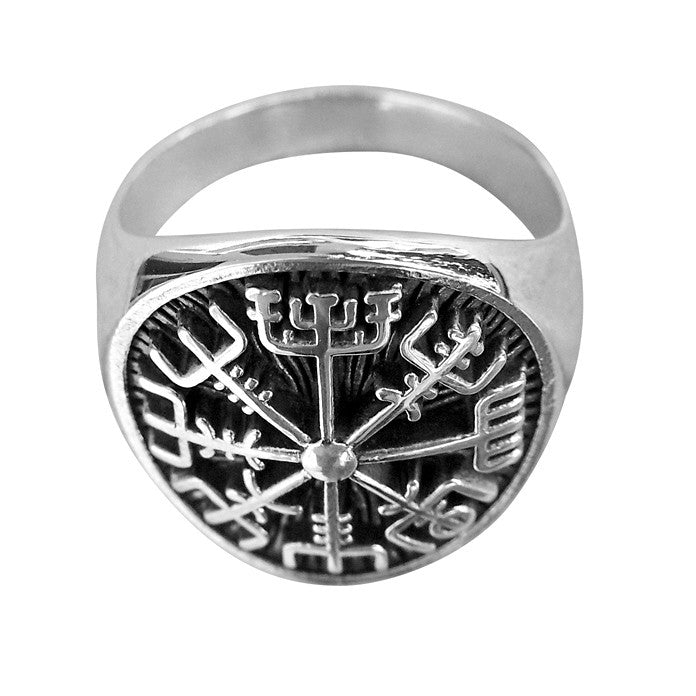 Norse Viking Compass Ring - Sterling Silver