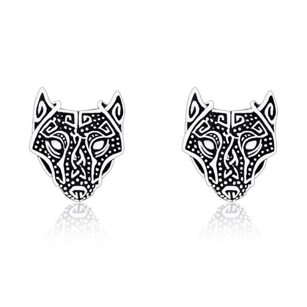 Norse Wolf Earrings