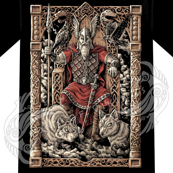 Odin on Throne T-Shirt