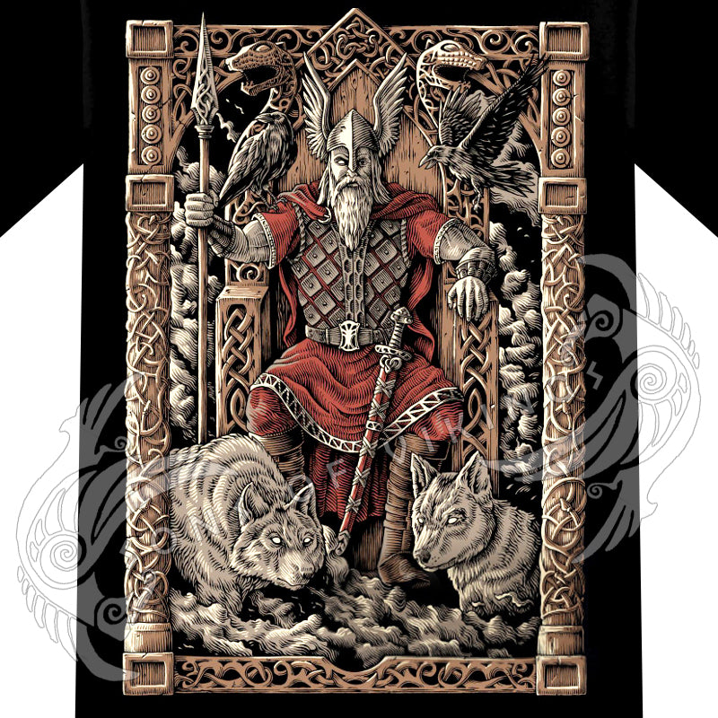 Odin on Throne Hoodie