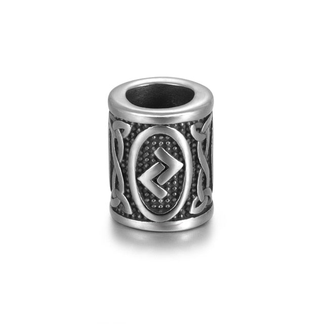 Individual Rune Beads - Stainless Steel