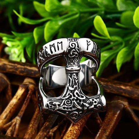 Thor's Hammer Ring - Stainless Steel