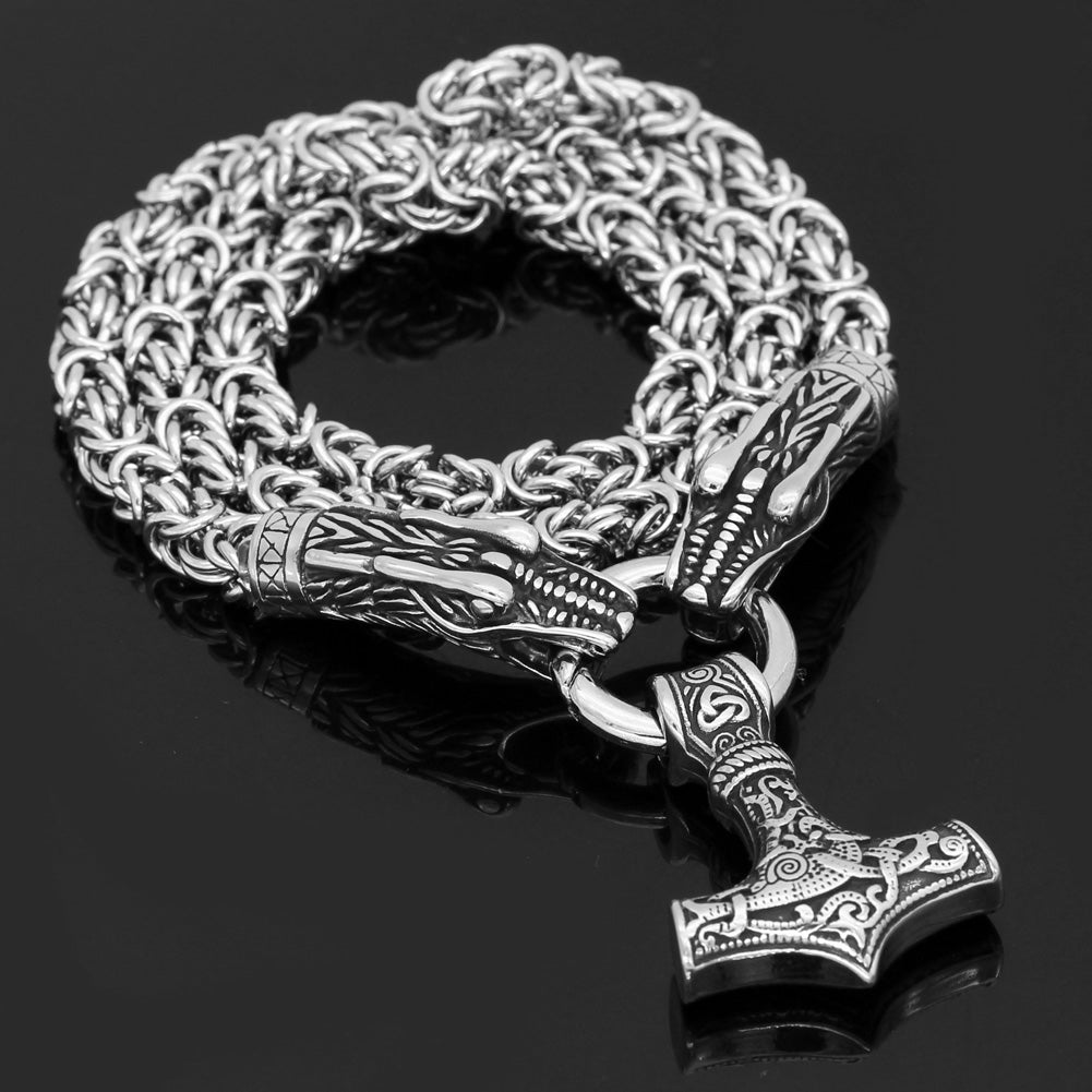 Stainless Steel Kings Chain - Dragon Heads