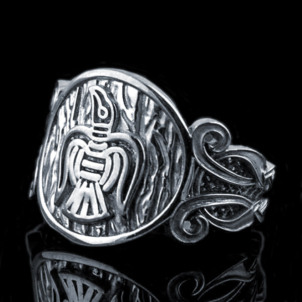 Ragnar's Raven Ring - Sterling Silver or Gold