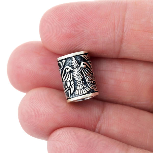Raven Beard Bead - Sterling Silver