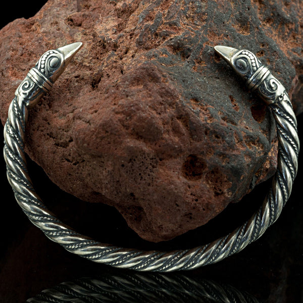 Viking Raven Arm Ring - Sterling Silver