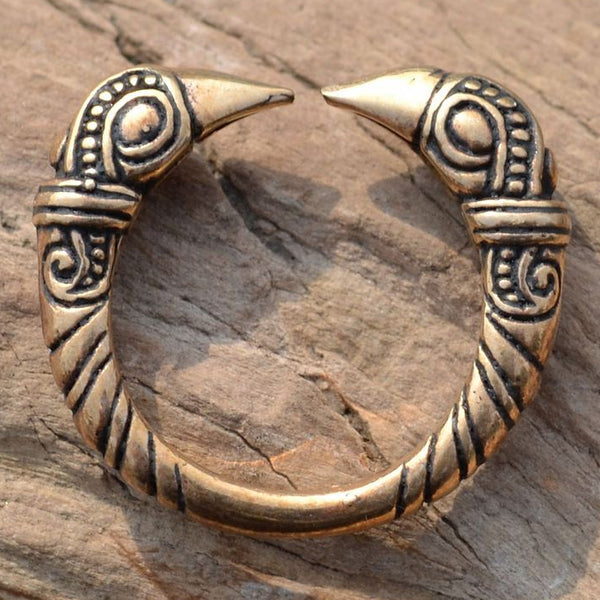 Raven Head Ring - Bronze