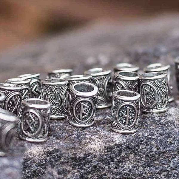 Individual Rune Beads - Sterling Silver or Gold