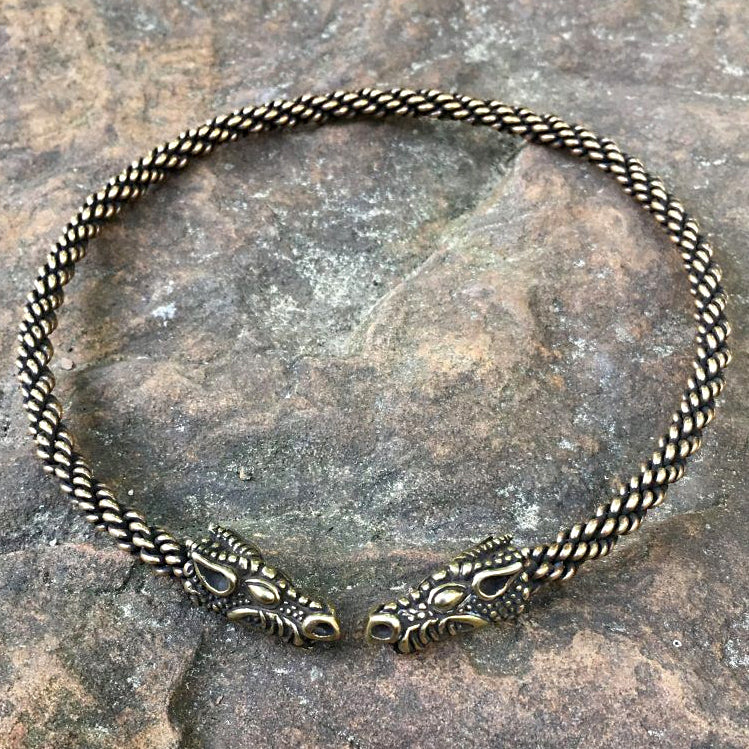 Bronze Serpent Torc - Light Braid
