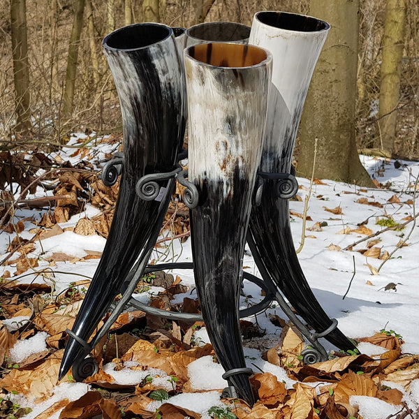 set of drinking horns