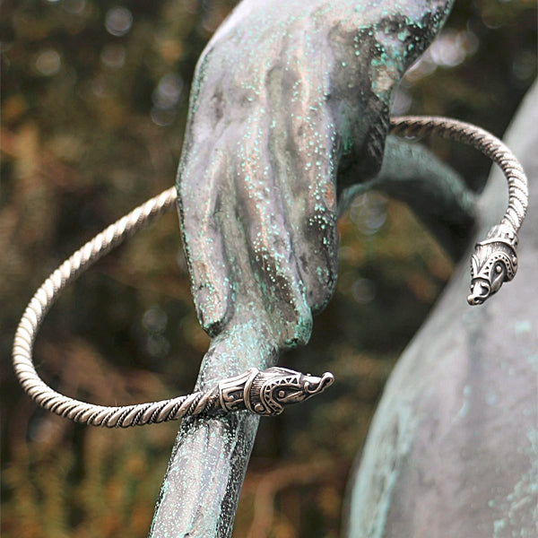 silver viking neck ring