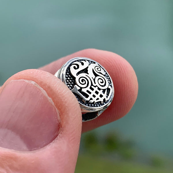 Sleipnir Beard Bead - Bronze or Sterling Silver