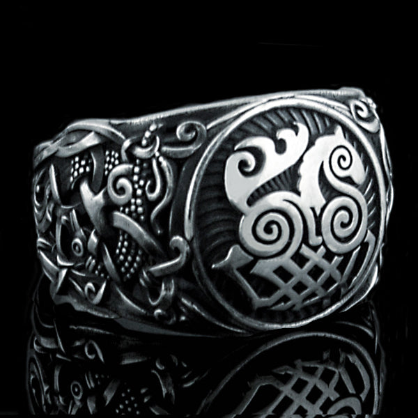 Sleipnir Ring - Sterling Silver or Gold