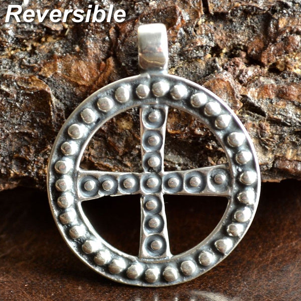 Sun Cross Pendant - Bronze or Sterling Silver