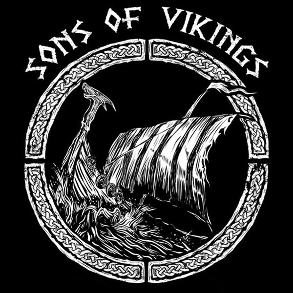 Sons of Vikings - Viking Ship - T-Shirt