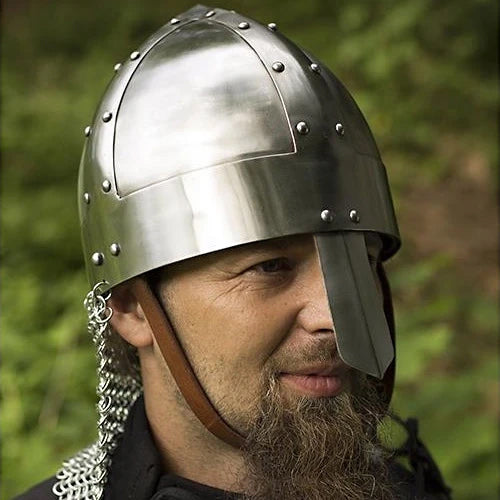 Spangenhelm Helmet - Polished Steel