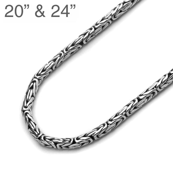 Sterling Silver Byzantine Chain - 3mm