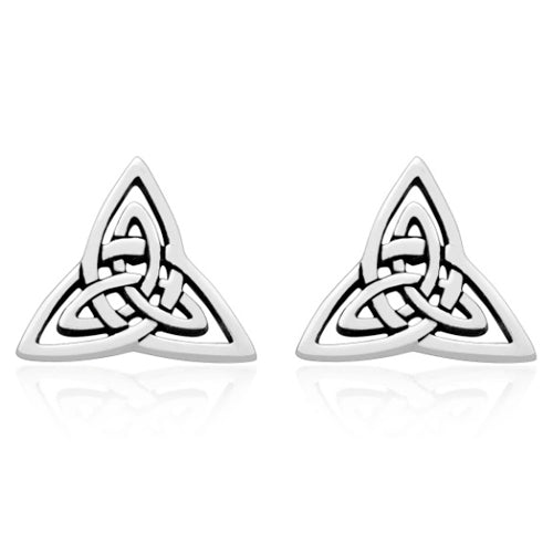 Triquetra Stud Earrings - Sterling Silver