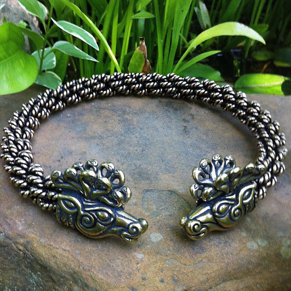 Bronze Stag Torc - Extra Heavy Braid