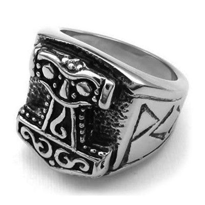 Stainless Steel Mjolnir Ring