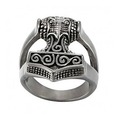 Sterling Silver Mjolnir Ring