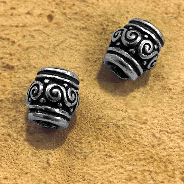 Spiral Beard Bead - Sterling Silver