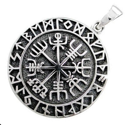 Sterling Silver Viking Compass Pendant
