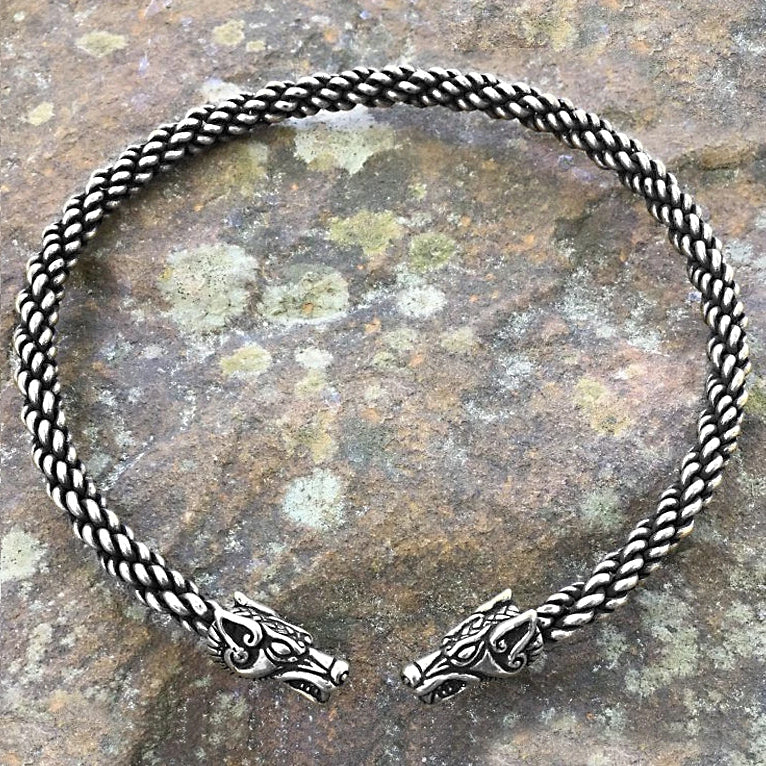 Wolf Torc (Medium) - Bronze or Silver
