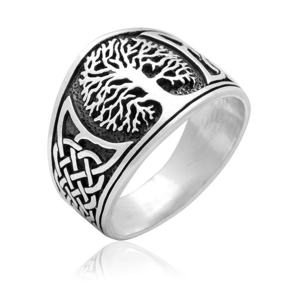 Sterling Silver Yggdrasil Ring