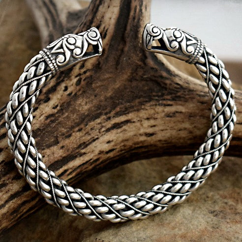 Thick Braided Gotland Bracelet - Sterling Silver