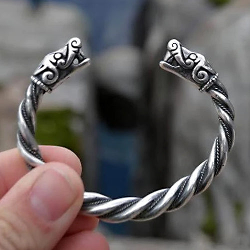Viking Bracelet - Sterling Silver - Thicker