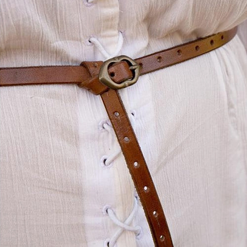 Thin Brown Viking Belt - Leather