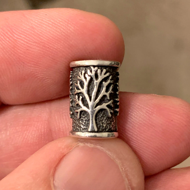 Tree of Life Beard Bead - Sterling Silver