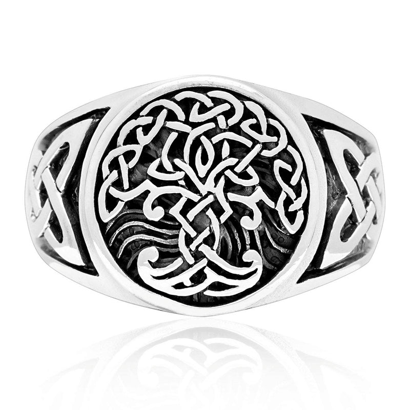 tree of life ring sterling silver