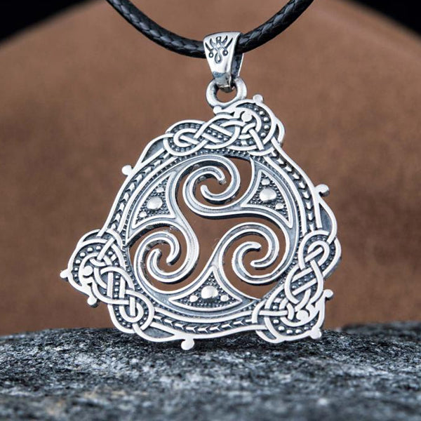 Triskele Pendant - Sterling Silver or Gold