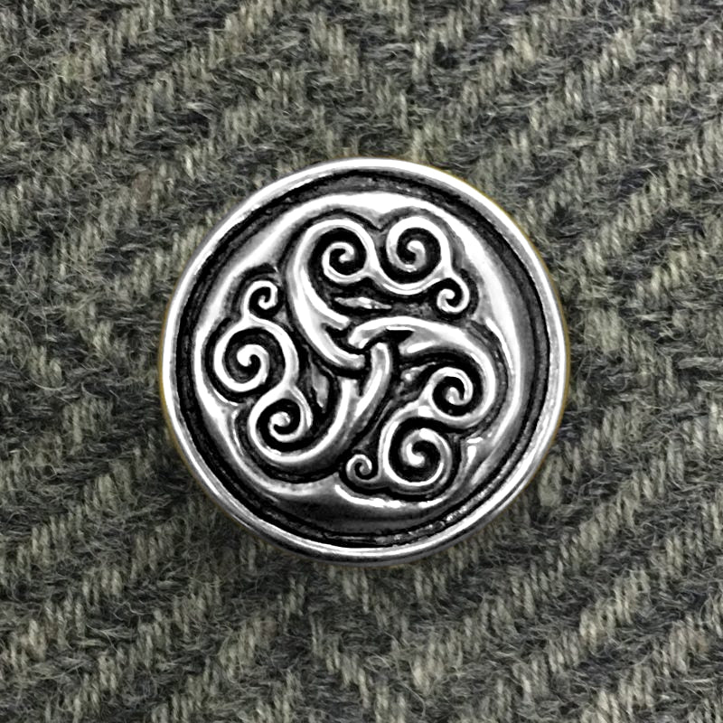 Triskele Pin - Bronze or Silver
