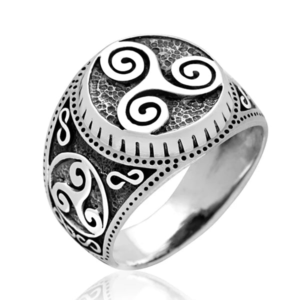 Triskelion Ring - Sterling Silver