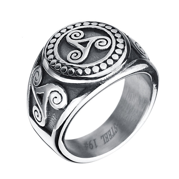 Triskelion Ring - Stainless Steel