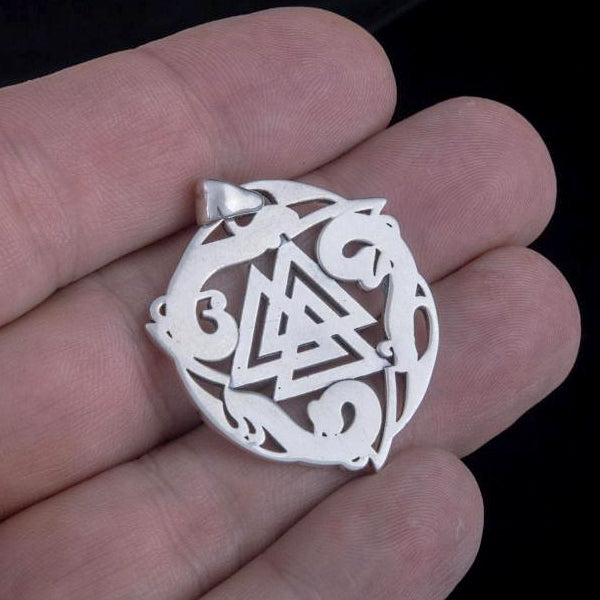 Valknut Amulet - Sterling Silver or Gold