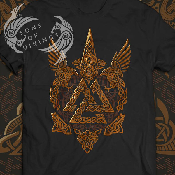 Valknut and Ravens T-Shirt