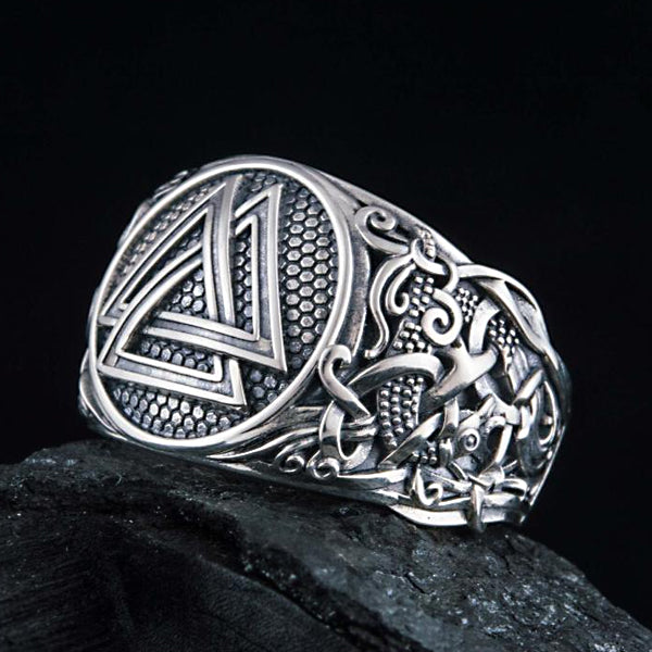 Valknut Ring - Sterling Silver or Gold
